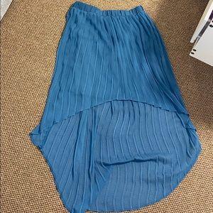 Blue High-Low Skirt